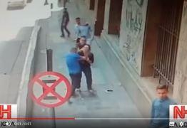 """VEJA VÍDEO: Câmeras flagram ação de quadrilha especializada em """"saidinha"""" de bancos"""