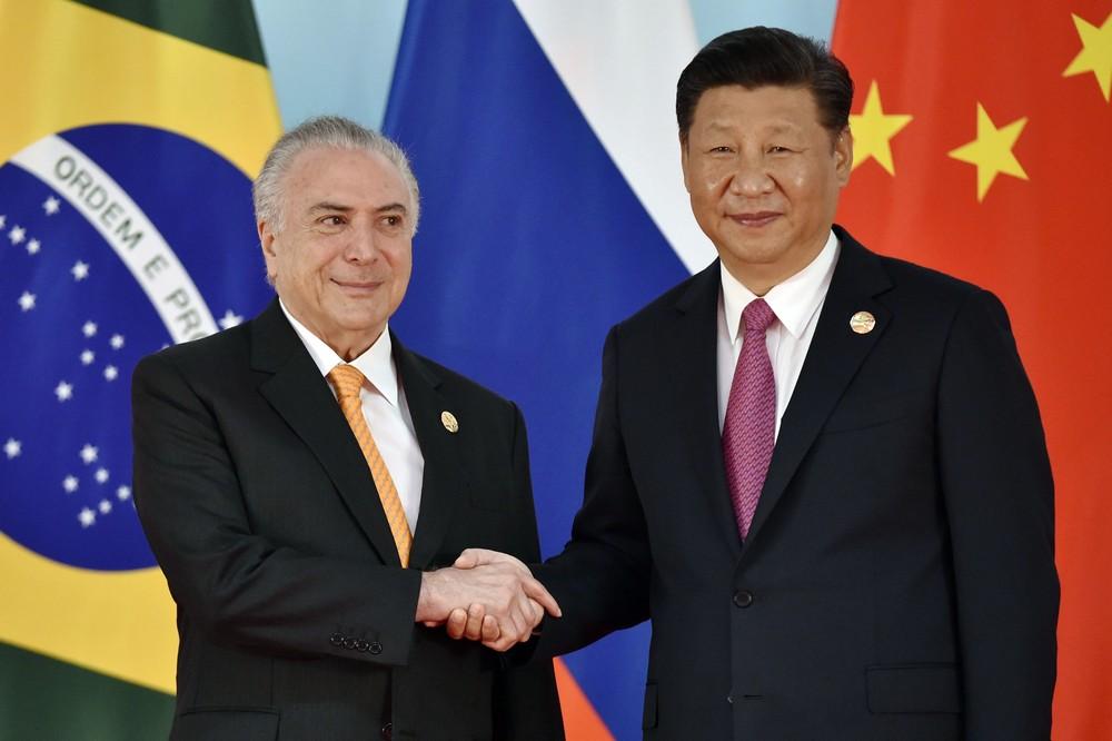 temer brics - Michel Temer é recebido por presidente chinês em encontro do Brics