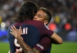 Cavani reconhece atrito com Neymar, diz que já superou e quer brasileiro como o melhor do mundo