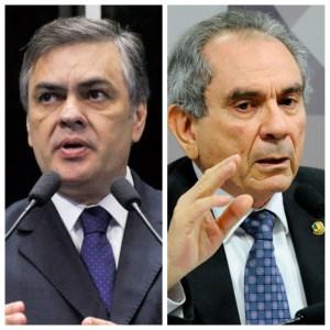 cassio lira - Cássio e Lira defendem votação aberta em sessão que pode confirmar afastamento de Aécio do Senado