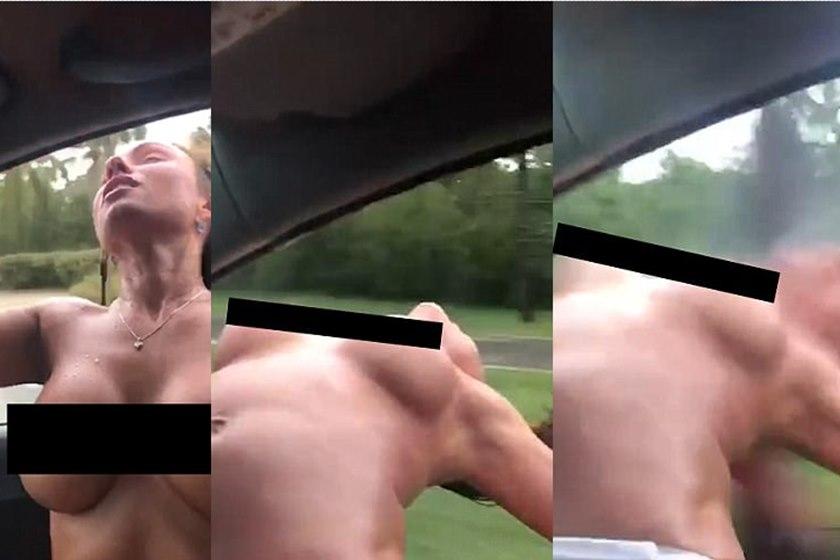topless - VEJA VÍDEO: Mulher fazendo topless põe corpo para fora de carro em movimento e tem cabeça esmagada