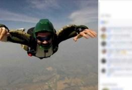 Paraquedista morre após bater em muro durante pouso