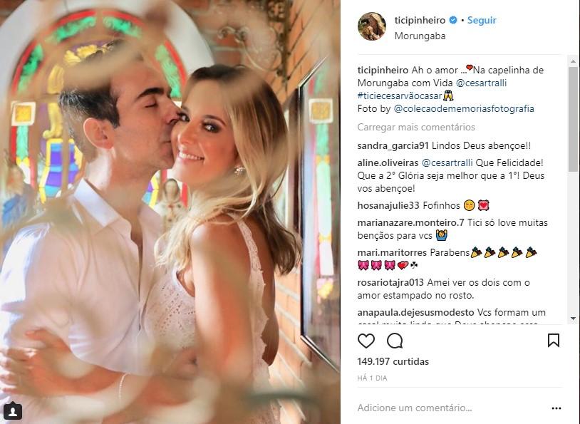 cesar tralli ticiane pinheiro - Tici Pinheiro e Cesar Tralli se casam em segredo