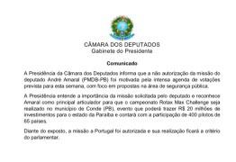 Presidência da Câmara emite nota sobre pedido de passagem feito por deputado paraibano