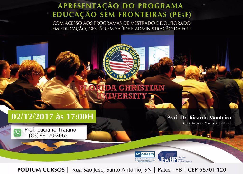 fc6024659968654222cce32df00e5a29 - Será apresentando em Patos o programa Educação Sem Fronteiras (PESF)