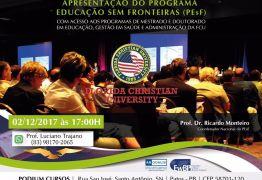 Será apresentando em Patos o programa Educação Sem Fronteiras (PESF)