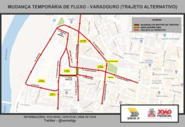 Semob-JP bloqueia cruzamento no Varadouro para continuação de obras de galeria pela PMJP
