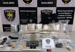 Operação conjunta prende carga de drogas avaliada em R$ 1 milhão