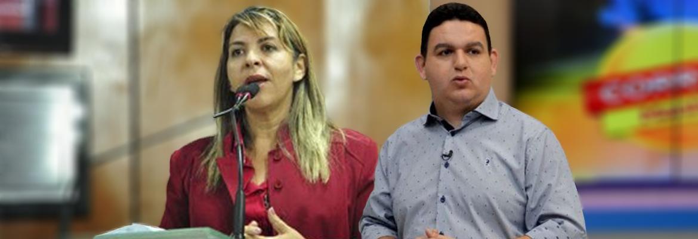 fabiano eliza - 'VELHACA E XEXEIRA': Eliza Virgínia e Fabiano Gomes brigam no ar e deputada diz que 'dever não é crime'