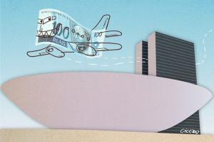 ilustra politico gastao 1 300x200 - Mundo afora: Câmara gastou mais de R$ 1,5 mi em viagens internacionais; veja detalhes
