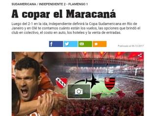 independiente fla 300x237 - Imprensa argentina aponta Independiente com ''meia taça'' e prevê festa no Rio