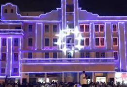 VEJA VÍDEO: Assembléia Legislativa da Paraíba inaugura iluminação de Natal no Paraíba Palace