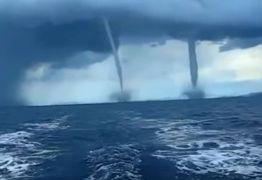 """Vídeo polêmico diz mostrar """"óvnis"""" roubando água da Terra por meio de trombas d'água"""