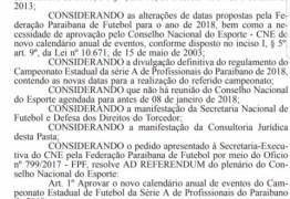 Ministério dos Esportes publica referendo sobre mudanças no Paraibano