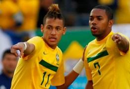 Neymar presta homenagem a ídolo Robinho pelos 34 anos do atacante