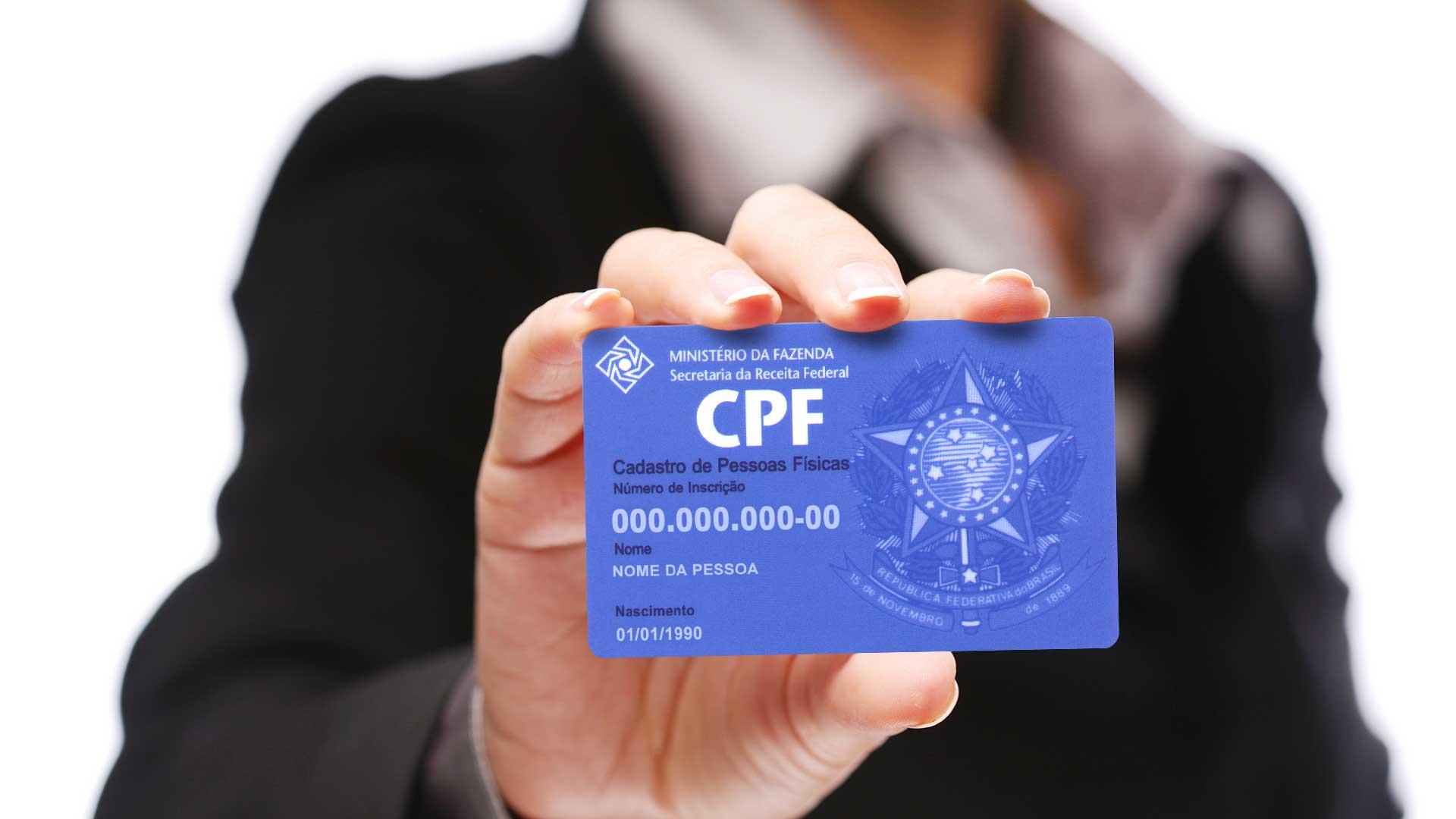 CPF - AGORA PODE: Órgãos federais aceitam CPF como documento de identificação