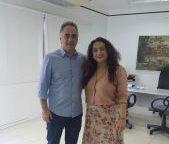 Olenka formaliza entrega de cargo durante reunião com Luciano Cartaxo