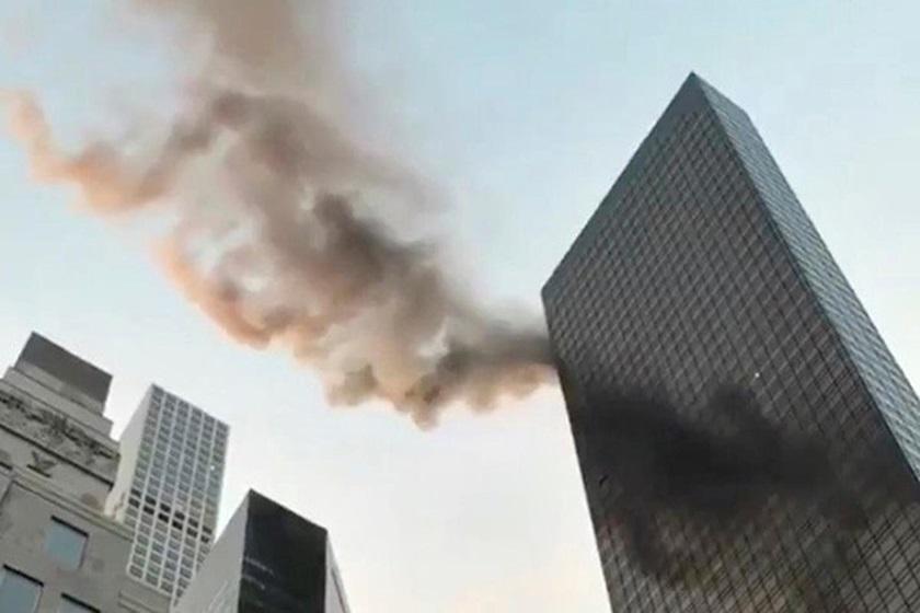 newyork fire trump tower - Incêndio na Trump Tower, em Nova York, fere duas pessoas