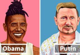 Artista recria imagens dos maiores líderes mundiais como Hipsters