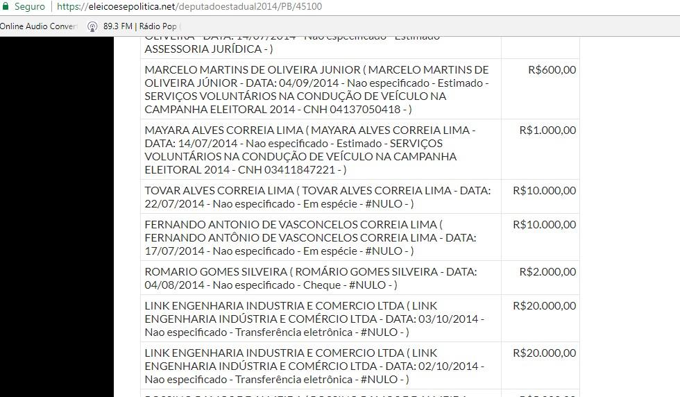 Capturar1 1 - BOMBA: Acusado de explodir banco no Partage doou para campanha de um deputado estadual em 2014