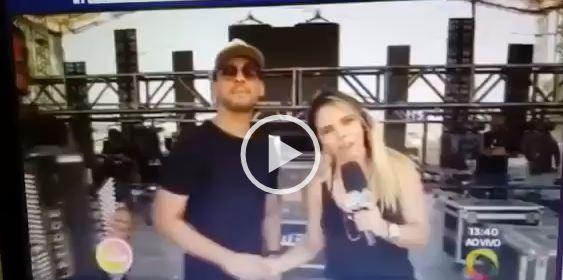 gafe - VEJA VÍDEO: Sâmya Maia comete gafe e pede para telespectadores assistir concorrência