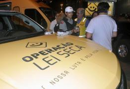 Lei Seca autua mais de 60 condutores em um mês, na Paraíba