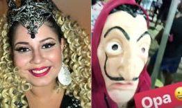 Marília Mendonça se disfarça com fantasia e curte o carnaval de Salvador