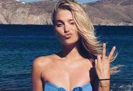 Com foto nua na cama, modelo sueca deixa fãs chocados com magreza