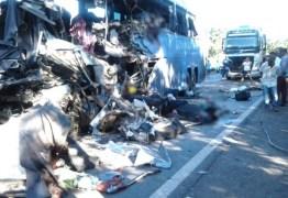 Confirmada morte da oitava vitima do acidente entre Ônibus e Carreta; veículo transportava passageiros de Cajazeiras para Goiânia