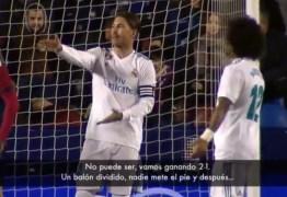 """TV flagra desabafo de Ramos com Marcelo após gol do Levante: """"Somos estátuas?"""""""