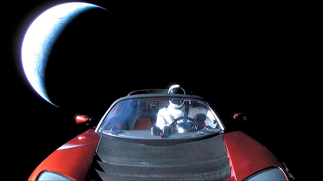 starman goodbye 2 - Observatório brasileiro registra Tesla de Elon Musk a caminho de Marte
