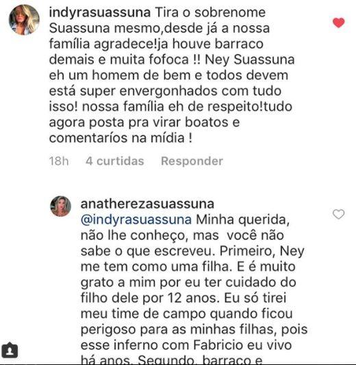 suassuna 1 - BARRACO NO CLÃ SUASSUNA: Indyra e Ana Thereza trocam farpas na internet e seguidores expõem histórico de escândalos