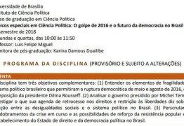 DEBATE QUENTE: Disciplina sobre 'golpe' gera discussão entre Dilma e ministro da Educação