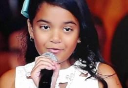 VEJA VÍDEO: Paraibana Mariah é selecionada para próxima fase do The Voice Kids