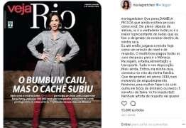 """""""O BMBUM CAIU"""":  Gretchen se revolta com manchete da capa da Revista Veja"""