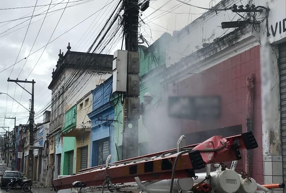 incendio joao pessoa - Incêndio destrói loja de móveis no Centro de João Pessoa