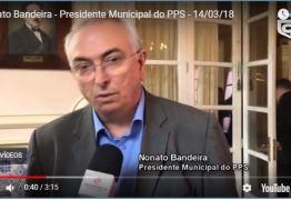 VEJA VÍDEO: Nonato comenta adesão de Pedro Cunha Lima ao PPS e ainda que tem que seguir