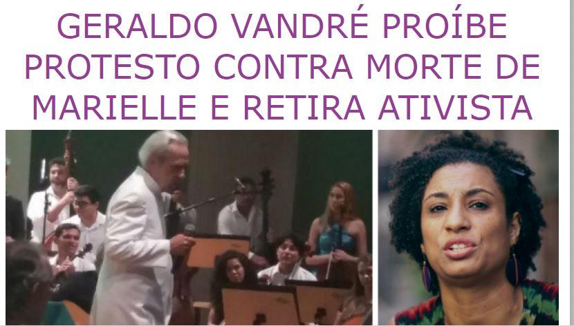 repercussão - CENSURA? Artigo de paraibano criticando censura de Vandré contra caso de Marielle repercute nacionalmente