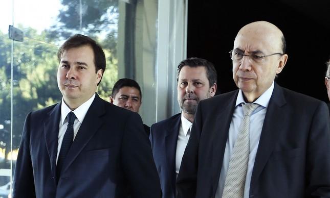 rodrigo maia henrique meirelles 1 - Pré-candidatos à presidência, Henrique Meirelles e Rodrigo Maia usam jatos da FAB