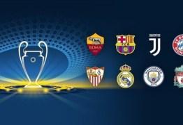 Sorteados os confrontos das quartas de final da Liga dos Campeões; Confira