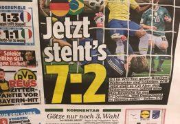 Jornal alemão volta a provocar brasileiros: 'Agora está 7 a 2'