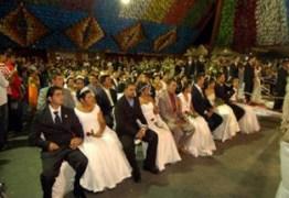 Pela primeira vez sobram vagas para casamento coletivo do São João de Campina Grande