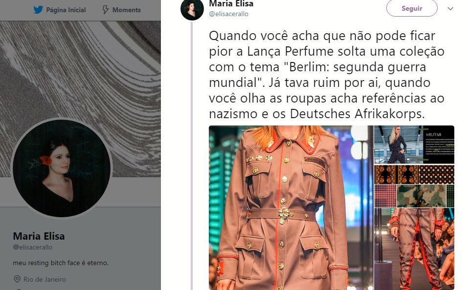 c65cb1816f Grife brasileira lança coleção inspirada na Alemanha e internet vê  inspiração no nazismo