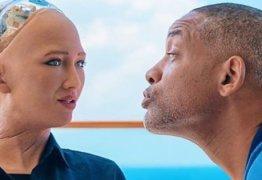 O encontro de Will Smith com Sophia a robô  mais desenvolvida do mundo -VEJA VÍDEO