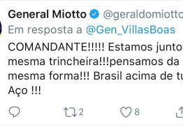 """Mais generais declaram apoio a comandante do Exército: """"Sempres prontos!"""""""