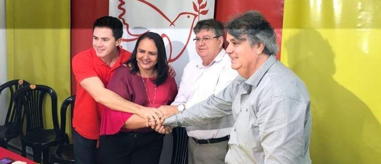 apio joão azevedo - Lídia oficializa apoio do PMN ao PSB e dispara: 'João representa os valores que nunca abandonei'