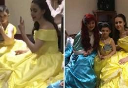 VEJA VÍDEO: Garoto surdo tem linda surpresa com princesa 'cantando' em língua de sinais pra ele