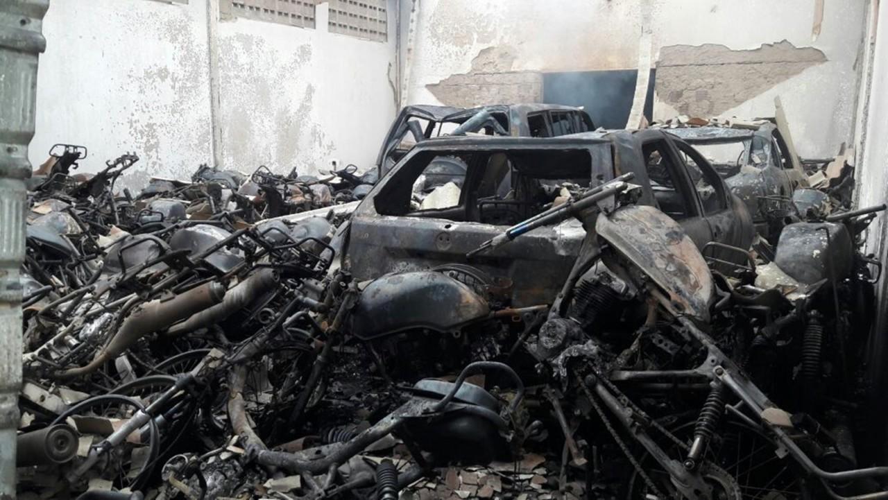 incendio forum 2 - INSEGURANÇA: Cinco fóruns são alvos de ataques em menos de dois meses na Paraíba