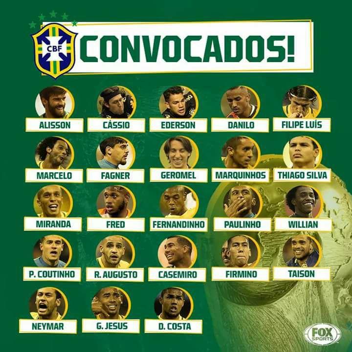 32643032 1568490453255493 1475089574165217280 n - Tite divulga lista de convocados para a Copa do Mundo; confira