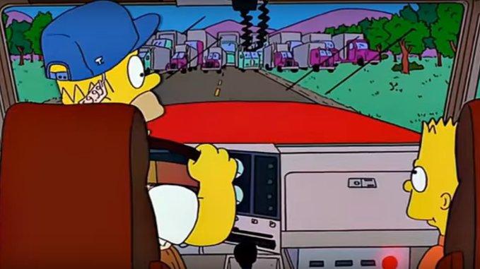 Dd94mLOU8AAkbrZ - PRECISÃO: 'Os Simpsons' previram a greve dos caminhoneiros no Brasil